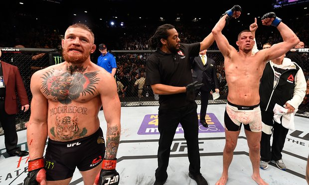 Nate Diaz was partying on a boat when he got the call to fight Conor McGregor